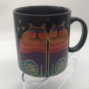 Other - Laurel Burch large black coffee mug. Twin cats